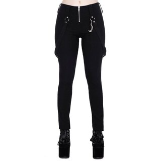 Killstar Stretch Trousers - Darklands Black