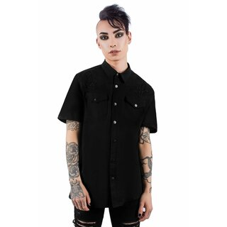 Killstar Gothic Shirt - Crossed Out