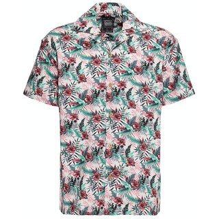 King Kerosin Hawaii Shirt - Hibiscus Off-White