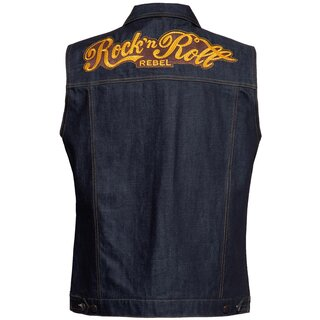 King Kerosin Denim Vest - RNR Rebel