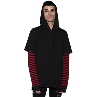 Killstar Long Sleeve Hooded Top - Jax Blood
