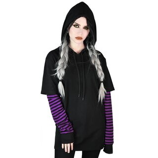 Killstar Long Sleeve Hooded Top - Jax Plum