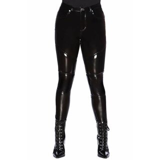 Killstar Patent Leather Trousers - Daggers