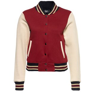 Queen Kerosin College Jacket - Blanko Wine